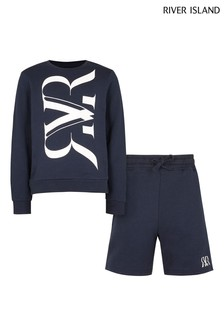 River Island Navy Crew Set