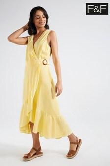 F&F Yellow Florence Linen Dress