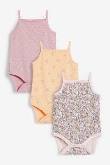 3 Pack Floral Bodysuits