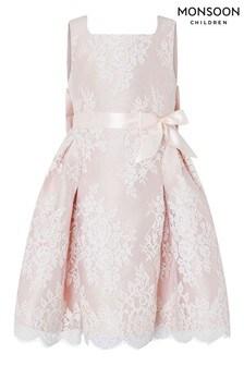Кружевное платье персикового цвета Monsoon Valeria