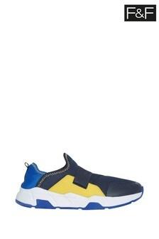 Granatowe elastyczne buty sportowe F&F