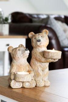 Teelichthalter mit Bärendesign