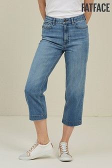 FatFace Light Wash Salcombe Denim Crop Jeans