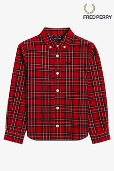 Fred Perry Boys Tartan Shirt