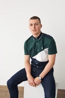 Colourblock Stretch Oxford Shirt