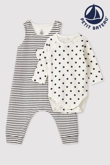 Petit Bateau Navy And White Two Piece Set