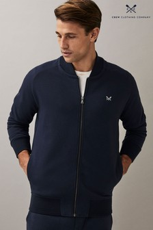 Crew Clothing Company Blue Clean Bomber Jacket