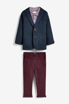 Блейзер, рубашка и брюки чинос (3 мес.-7 лет)