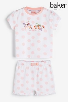 Baker by Ted Baker Spotty Short Pyjamas Set
