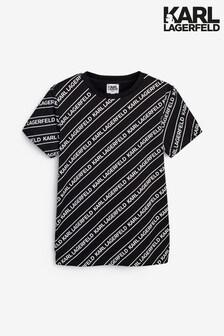 Karl Lagerfeld Black And White Logo T-Shirt