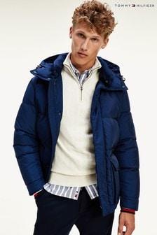 Tommy Hilfiger Blue Down Hooded Jacket