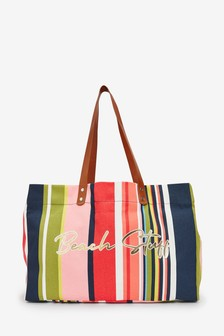 Large Beach Stuff Shopper Bag
