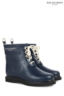 Ilse Jacobsen Navy Rubber Boot