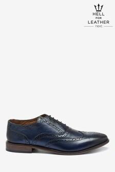 Oxfordské kožené topánky s vyrazeným vzorom