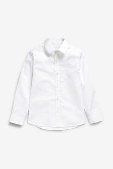 Elegantná košeľa Signature s dlhými rukávmi a jemnou geometrickou potlačou (3 – 16 rok.)