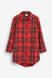 Długa koszula w kratę (3-16 lat)