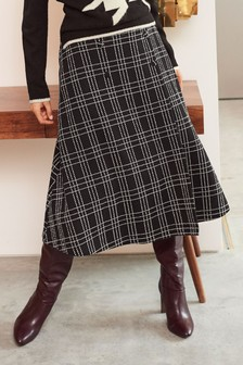 Jacquard Check Skirt