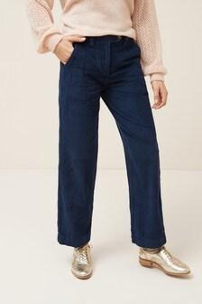 Вельветовые брюки свободного кроя