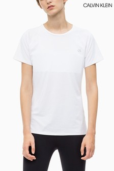 Calvin Klein Performance Basic-T-Shirt, weiß