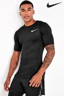 Nike Pro Black Short Sleeved Base Layer Top
