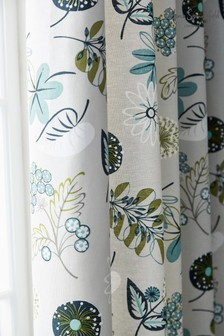 Helena Springfield Amalie Floral Lined Eyelet Curtains