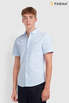 Farah Blue Brewer Slim Shirt