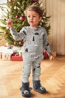 Рождественская пижама облегающего кроя (9 мес. - 12 лет)