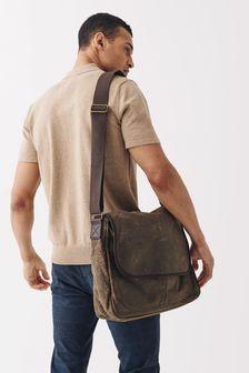 Waxed Messenger Bag