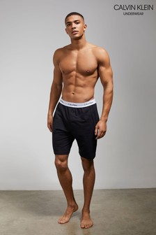 Calvin Klein Moderne Schlaf-Shorts aus Baumwolle, Schwarz