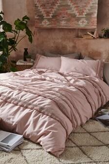 Tassel Duvet Cover And Pillowcase Set