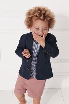 Блейзер, рубашка и шорты (комплект) (3 мес.-7 лет)