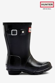 Hunter Kids Black Original Welly