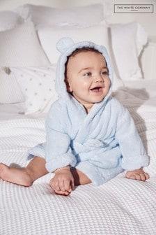 The White Company Blue Bear Ears Baby Robe