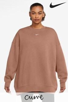 Nike Trend Oversized-Fleecepullover mit Rundhalsausschnitt