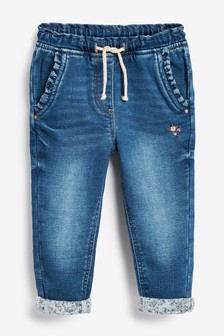 Frill Pocket Pull-On Jeans (3mths-7yrs)