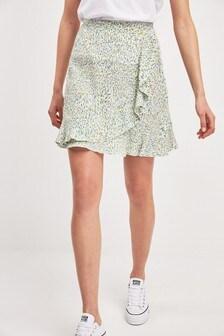 Мини-юбка с оборками