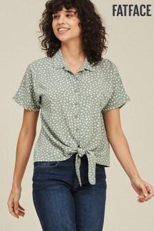 قميص ربطة منقط نقاط مزدوجة Cali أخضر من FatFace