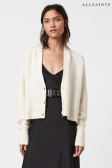 AllSaints White Relaxed Fit Cardigan