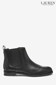 Czarne skórzane buty Chelsea Ralph Lauren