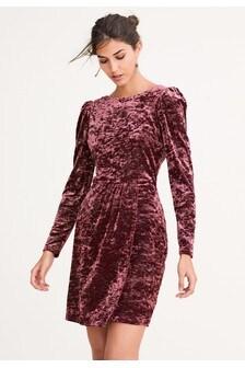 Бархатное платье с люрексом