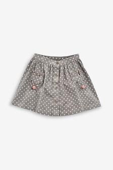 Вельветовая юбка с отделкой на карманах (3 мес.-7 лет)