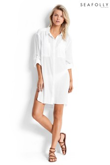 Seafolly® Crinkle Twill Beach Shirt