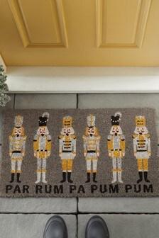 Nutcracker Christmas Doormat