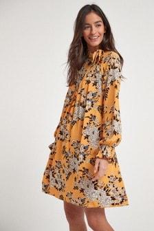 Платье мини с завязкой