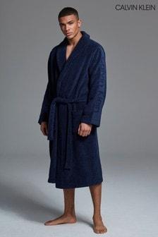 Темно-синий халат Calvin Klein