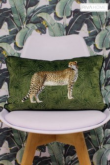 Riva Home Velvet Cheetah Cushion