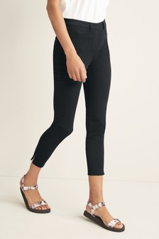 Jersey-Leggings in Cropped Fit