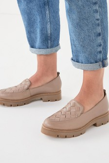 Forever Comfort® Leather Weave EVA Loafers
