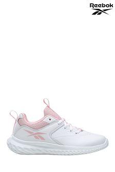 Reebok White/Pink Rush Runner Trainers