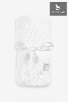 Couverture The Little Tailor bébé texturée rayée blanche